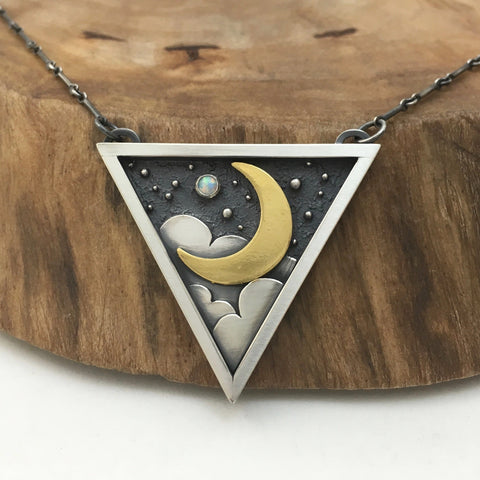 Golden Moonlight Necklace