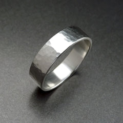 Textured Silver Band -top view