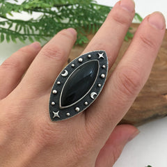 Onyx Statement Ring Handcrafted