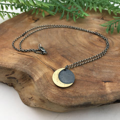 Moon Charm Necklace by Kelly Limberg