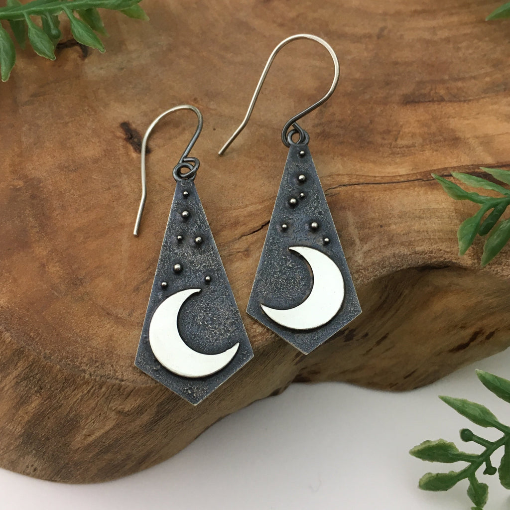 Crescent Moon Dangles