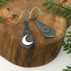 Crescent Moon Earrings by Kelly Limberg