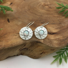 Opal Starburst Earrings by Kelly Limberg