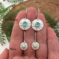 Silver Star Earrings handmade by Kelly Limberg