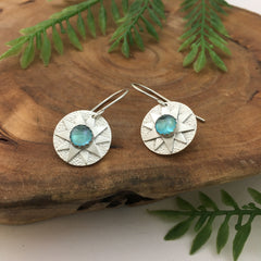 Silver Dangle Earrings Handcrafted Jewelry