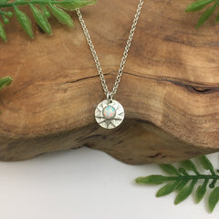 Starburst with Opal Charm Necklace