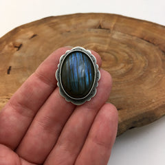 Large Labradorite Ring made to order