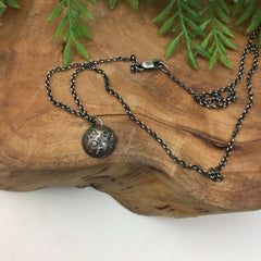 Domed Moon Charm Necklace