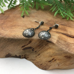 Sterling Silver Moon Dangle Earrings