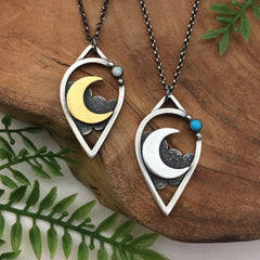 Gold & Silver Moondrop Pendants