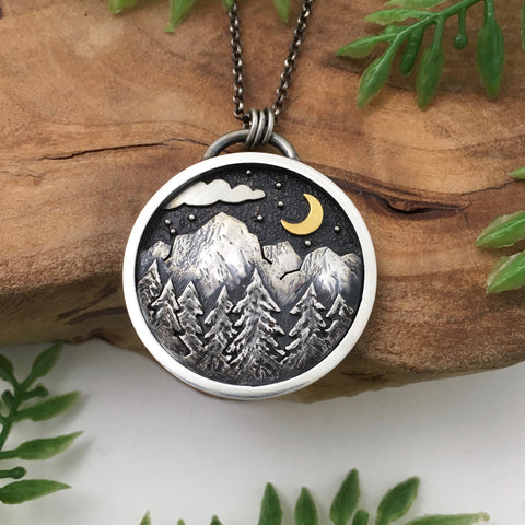 Moonlit Mountain Pendant