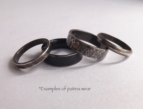 Examples of Patinated Jewelry after wear