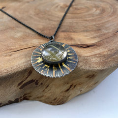 Rutilated Quartz Sunburst
