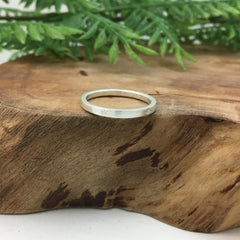 Silver Star Wedding Band Handmade by Artist