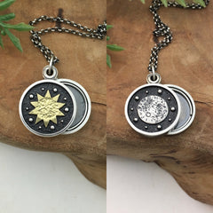 Sun & Moon Mini Photo Locket by Kelly Limberg