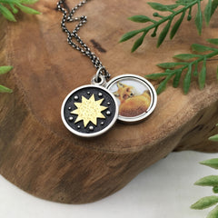 Handmade Sun Locket by Kelly Limberg