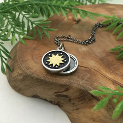 Mini Sun Swivel Photo Locket