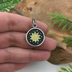 18k Gold Sun Locket by Kelly Limberg