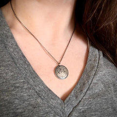 Silver Full Moon Necklace