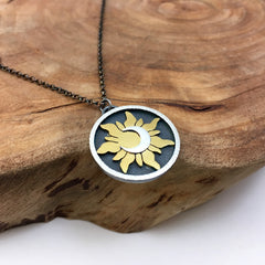 Gold Sun & Silver Moon Necklace
