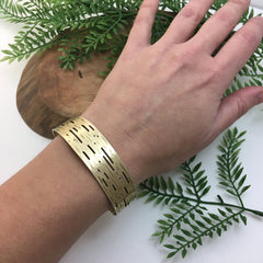 Golden Birch Bark Cuff