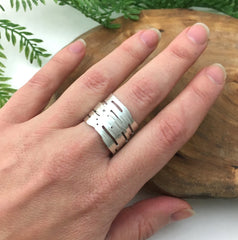 Handcrafted Silver Birch Ring