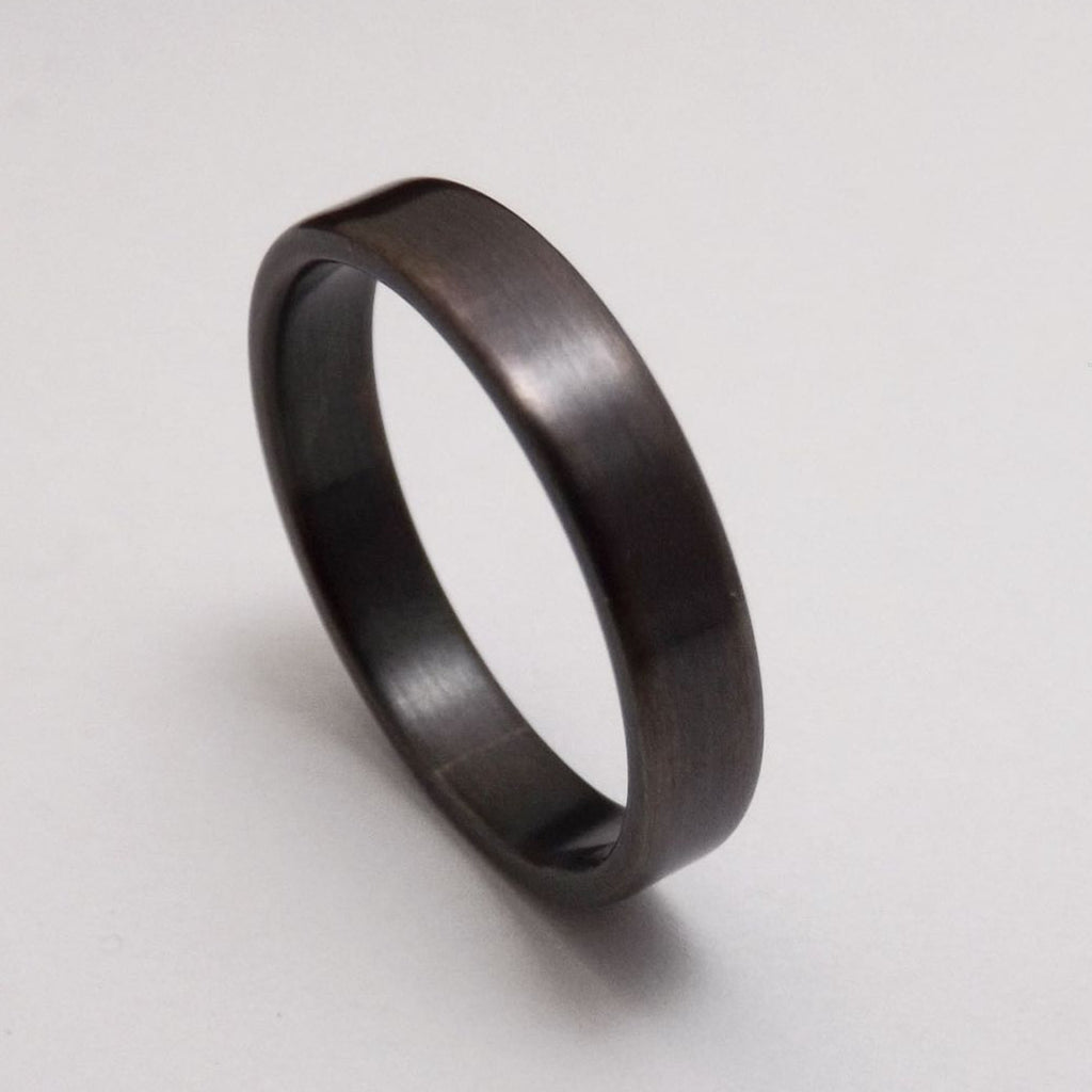 Thin Black/Gray Silver Band - 3mm Wide