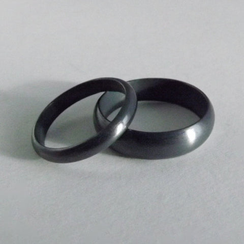 Dark Patina Wedding Bands