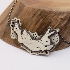 Binking Bunny Necklace