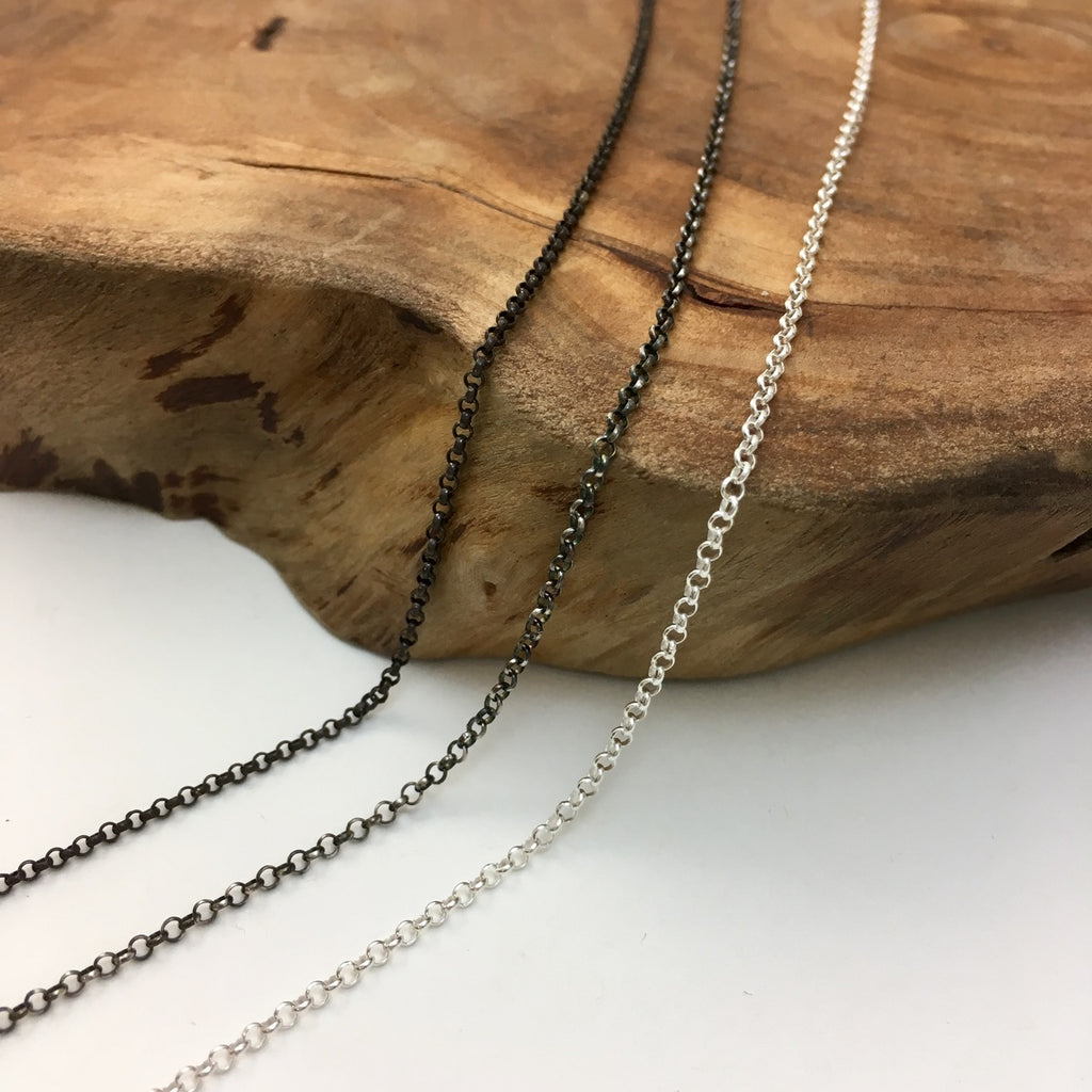 Various Finishes Silver Rolo Chain