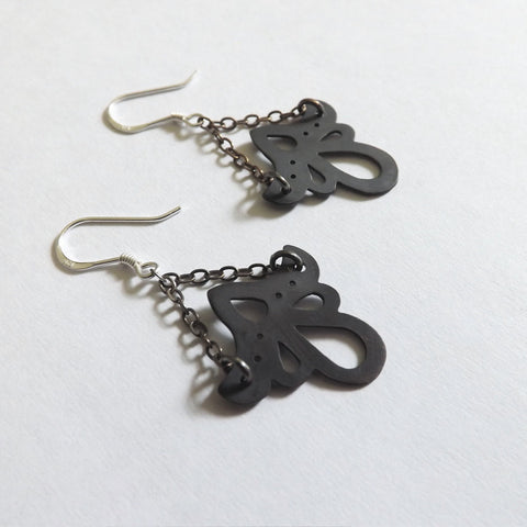 Ornate Black Chandelier Earrings