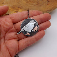 Chickadee Necklace - Mixed Metals