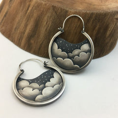 Cloudy Night Sky Earrings