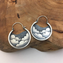Clouds & Stars Hoop Earrings