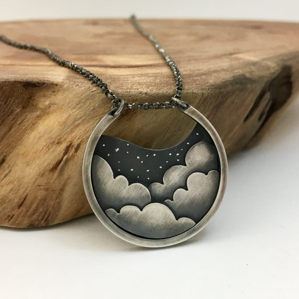 Cloudy Night Necklace