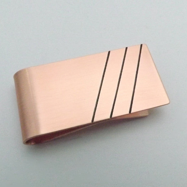 Money Clip with Lines