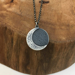 Silver Crescent Moon Charm