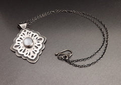 Ornate Layered Silver Pendant