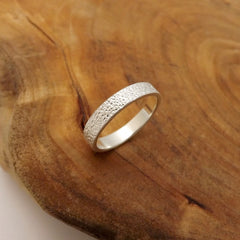 Silver Band with Dimpled Texture