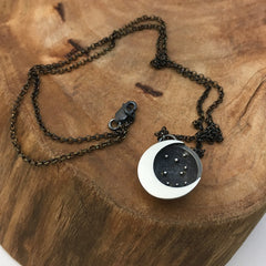 Silver Moon & Stars Necklace