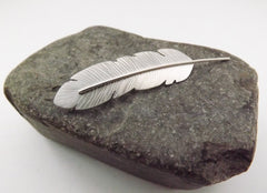 Silver Feather Brooch