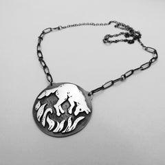Fox Necklace in Silver