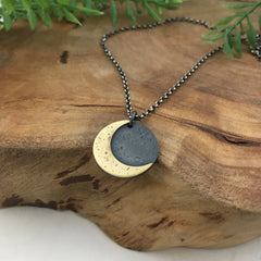 Handcrafted Golden Moon Necklace by Kelly Limberg