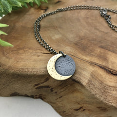 Golden Crescent Moon Jewelry