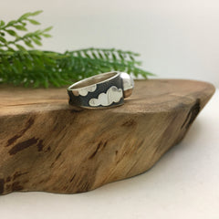 Cloud Ring in Silver with Moonstone, size 8.5
