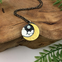 Gold & Silver Moon Necklace