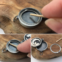 Handcrafted Photo Locket in Silver