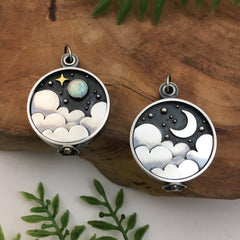 Night Sky Clouds Photo Lockets