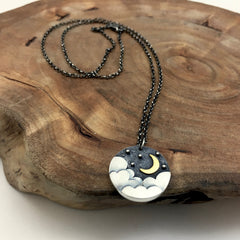 Moon, Cloud & Stars Necklace