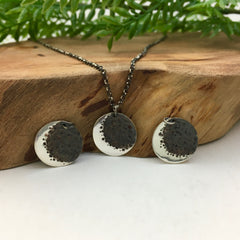Handmade Silver Moon Charm Necklace